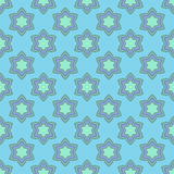 Kwiatu bezszwowy wzór z błękitnymi dzwonami. Zdjęcia Royalty Free