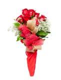 Kwiatu bukiet czerwone róże Zdjęcia Royalty Free