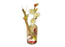Kwiatu bukiet i dekoracyjna waza Zdjęcie Stock