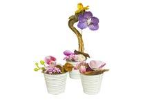 Kwiatu bukiet i dekoracyjna waza Zdjęcia Royalty Free