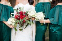 Kwiatu bukiet w ślubie Obraz Stock