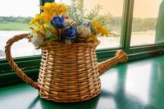 Kwiatu bukieta garnek Zdjęcia Stock
