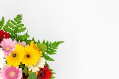 Kwiatu bukieta przestrzeń dla teksta obrazy royalty free