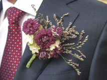 Kwiatu corsage z krawatem Zdjęcia Stock