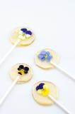 Kwiatu cukrowy kij Obrazy Stock