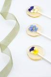Kwiatu cukrowy kij Zdjęcie Royalty Free