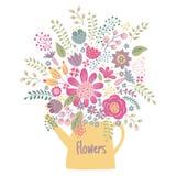 Kwiatu czajnik Obraz Royalty Free