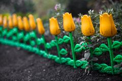 Kwiatu dekoracyjny ogrodzenie Zdjęcia Stock