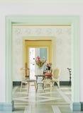kwiatu dekoracyjny stół Obrazy Stock