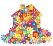 kwiatu domu wektor Zdjęcie Stock