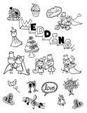 Kwiatu doodle, ręka rysująca, rocznik Fotografia Stock
