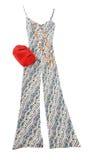 Kwiatu druku kombinezonu mody skład Fotografia Stock