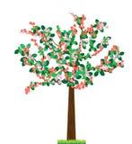 Kwiatu drzewo Obrazy Royalty Free