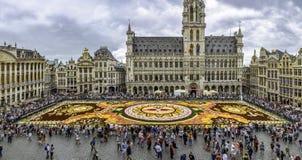 Kwiatu dywan 2018 w Bruksela obrazy stock