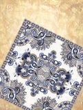 Kwiatu dywanowy ornamentacyjny projekt na grunge Obraz Stock