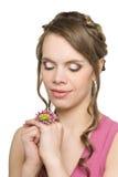 kwiatu dziewczyny ja target2436_0_ Obraz Stock