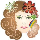 kwiatu dziewczyny lotosu tęcza Fotografia Royalty Free