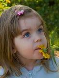 kwiatu dziewczyny mały target673_0_ Fotografia Stock