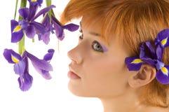 kwiatu dziewczyny purpury zdjęcia stock