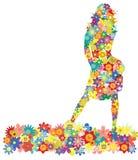 kwiatu dziewczyny wektor Fotografia Stock