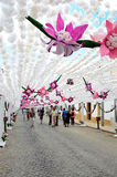 Kwiatu festiwal (festas robią povo Campo Maior 2015, Portugalia,) Obrazy Stock