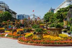 Kwiatu festiwal w Ho Chi Minh mieście, Wietnam Fotografia Royalty Free