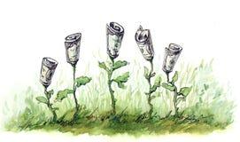 kwiatu finanse royalty ilustracja