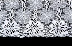 kwiatu formy koronki wzoru biel Obrazy Royalty Free