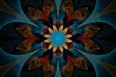 kwiatu fractal ilustracja wektor