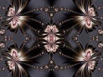 Kwiatu fractal wzór Ty możesz używać mnie dla zaproszeń, notatnik pokrywy, telefon skrzynki, pocztówki, karty, ceramika, dywany i obrazy royalty free