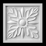 Kwiatu fretwork gips Zdjęcia Stock