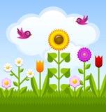 Kwiatu Garden ilustracji