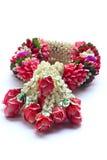 Kwiatu girlanda odizolowywająca na biały tle Obrazy Royalty Free