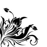 kwiatu graniasty wzór Zdjęcia Royalty Free