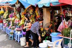 kwiatu Hong kok kong rynku mong orchidee Obrazy Royalty Free