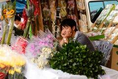 kwiatu Hong kok kong rynku mong orchidee Obraz Stock