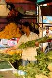 kwiatu Hong kok kong rynku mong orchidee Obraz Royalty Free