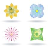 kwiatu ikony wektor Zdjęcia Royalty Free
