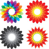 kwiatu ikony wektor Obraz Royalty Free