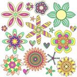 kwiatu inkasowy kolorowy serce Obraz Stock