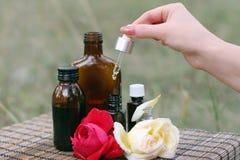 kwiatu istotny olej Obraz Royalty Free