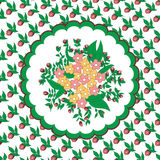 kwiatu kółkowy wzór Zdjęcia Royalty Free