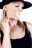 kwiatu kapeluszowi kobiety potomstwa Zdjęcia Stock