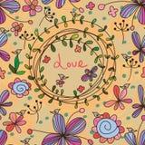 Kwiatu karciany bezszwowy wzór Zdjęcie Royalty Free