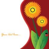 kwiatu karciany wektor Zdjęcia Stock