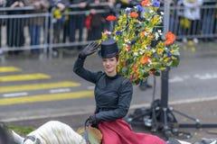 Kwiatu karnawał w Ładnym, Francja Obrazy Stock