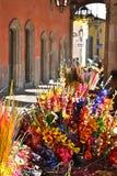 kwiatu kolorowy rynek Mexico Miguel San Fotografia Royalty Free