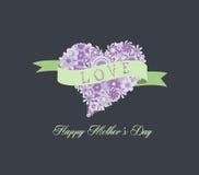 Kwiatu kształta matek kierowy szczęśliwy dzień Fotografia Royalty Free