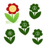 kwiatu kształt Zdjęcia Stock