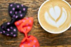 Kwiatu latte sztuka, zamyka up Zdjęcie Stock